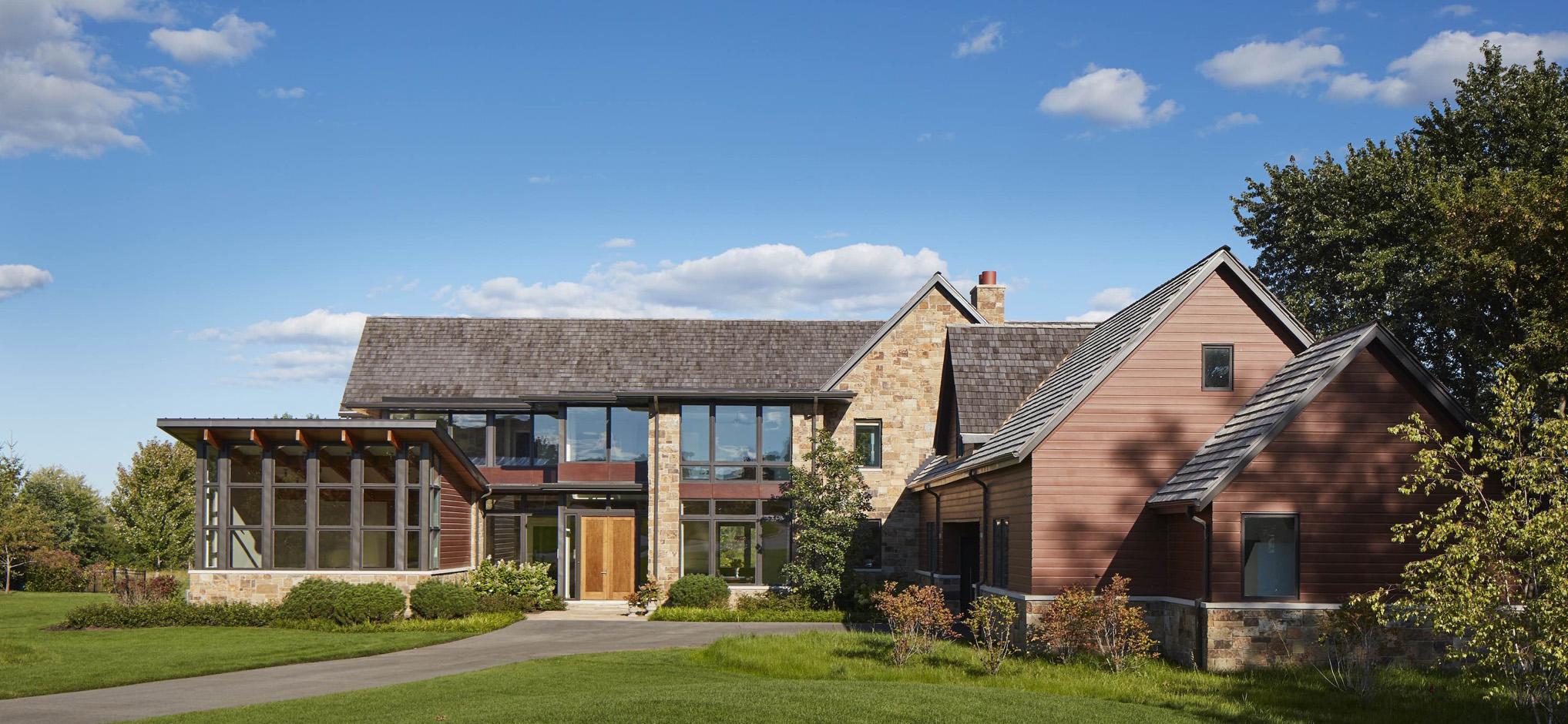 Massey Associates Architects design portfolio Rustic Contemporary Kildeer, Illinois