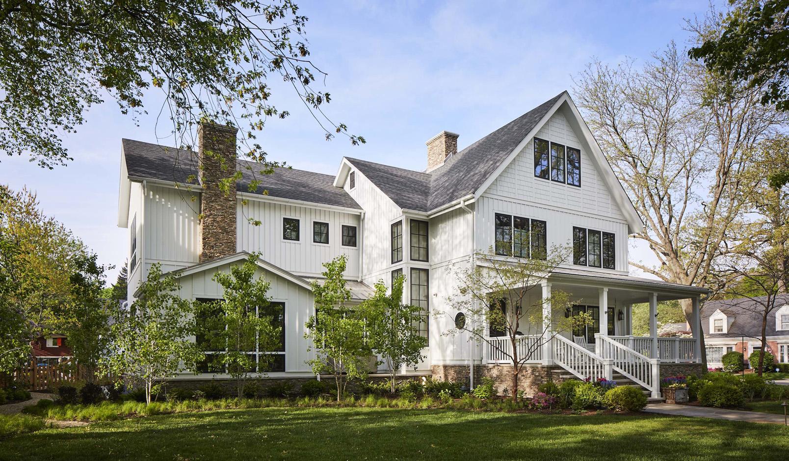Massey Associates Architects design portfolio Urban Farmhouse Wilmette, Illinois